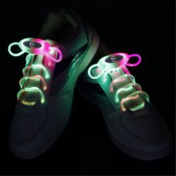 Купить со скидкой YWXLight Up LED Shoelaces Fashion Flash Disco Party Glowing Neon Shoelace