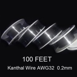 Купить со скидкой 0.2mm Diameter Kanthal Resistance Wire Roll E - cigarette Coils for Atomizers DIY ( 100 Feet )