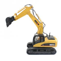 Акция на товар HUINA 1550 1:14 2.4GHz 15CH RC Alloy Excavator - RTR