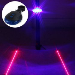 Купить недорого LED Lamp Bicycle Night Warning Light with Double Laser Lines