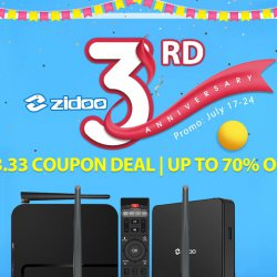 The Zidoo Smart TV Box and Android Smart Media Box Flash Sale from $3.33