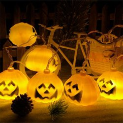 Купить Halloween Jack-o-lantern Double-faced Pumpkin String Lights с хорошей скидкой