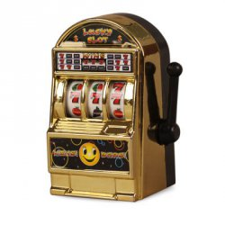 Купить Metal Anti-stress Lucky Slot Machine Christmas Gift с хорошей скидкой