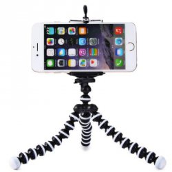 Акция на товар Mini Octopus Style Mobile Phone Stand Flexible Tripod