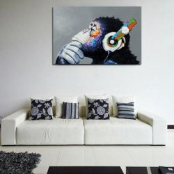 Купить недорого Canvas Print Painting Modern Colorful Music Home Decoration