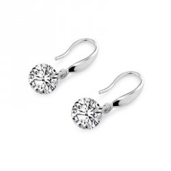 Купить недорого Women Zircon Round Drop Earrings