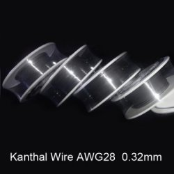 Купить со скидкой 0.32mm Diameter 28 Gauge Kanthal Resistance Wire Roll E - cigarette Coils for Atomizers DIY (30 Feet)