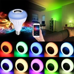 Купить Supli Led 10W Rgb Smart Light Bulb Speaker Generation Ii with Updated Remote Control - New Function of Light Flashing As Music Goes по акционной цене