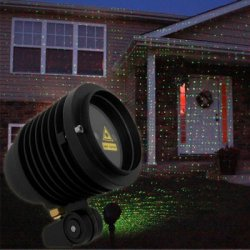 Купить WP - 003RG - 2 650nm 532nm Laser Projector Light Green + Red Laser Light Garden Landscape Light for Outdoor Places / Party / Wedding / Festival с хорошей скидкой