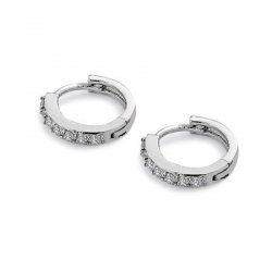 Купить недорого Women Superior Crystal Zircon Annular Earrings