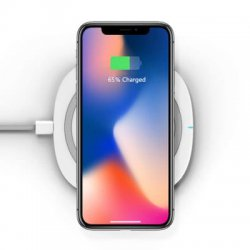 Акция на товар TOCHIC Qi Wireless Charger Pad Ultra-thin 10W Fast Charge