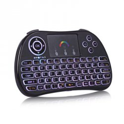Акция на товар TZ P9 Wireless 2.4GHz RGB Backlight Mini Keyboard