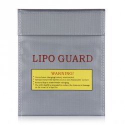 Акция на товар Lipo-Battery Increase Explosion-Proof Bag Fireproof Lipo Battery Guard Charge Bag 18X23cm Silver