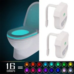 Купить недорого 2PCS Ywxlight Ip65 Smart Bathroom Toilet Nightlight Led Seat Sensor Lamp 16 Color