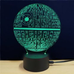 Купить M.Sparkling Creative 3D Lamp Star Wars The Death Star Shape Table Lamp с хорошей скидкой