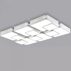 Купить со скидкой 32W 3000LM LED Simple Rectangle Shape Ceiling Light 220V