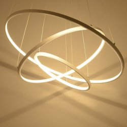 Купить со скидкой Creative Ring Shape LED Pendant Light 48W Sitting Room Dining Room Lamp