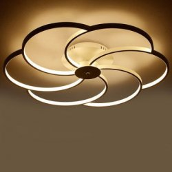 Купить Post-modern Style Flower Pattern LED Ceiling Light 220V с хорошей скидкой