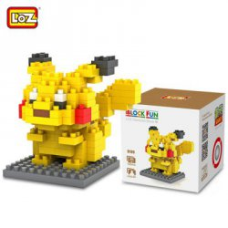 Купить недорого LOZ 120Pcs M - 9136 Pokemon Pikachu Building Block Educational Toy for Cooperation Ability