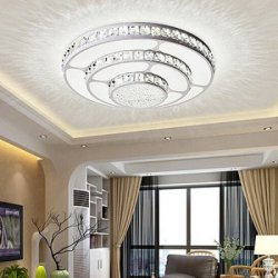 Акция на товар Fashion Round Crystal Ceiling Light 220V