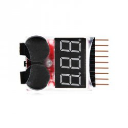 Купить недорого Remote Control Helicopter Multicopter Spare parts Lipo LiFe LiMn Li-ion Battery Monitor Alarm Low Voltage Buzzer Alarm Indicator 1S-8S