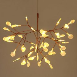 Купить со скидкой Art Creative Leaf Firefly LED Chandelier 220V