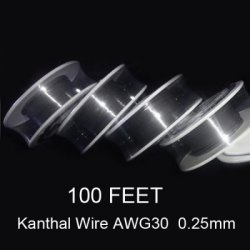 Купить со скидкой 0.25mm Diameter Kanthal Resistance Wire Roll E - cigarette Coils for Atomizers DIY ( 100 Feet )