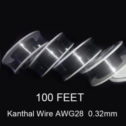 Акция на товар 0.32mm Diameter Kanthal Resistance Wire Roll E - cigarette Coils for Atomizers DIY ( 100 Feet )