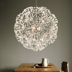 Купить LANSHI Creative Crystal Dandelion Chandelier Remote Control Home Lighting Pendant Lamp с хорошей скидкой