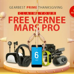 The 2017 Gearbest Thanksgiving Free Gifts Free Vernee Mars Pro