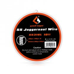 Купить Geekvape SS Juggernaut Wire / SS316L 10ft Heating Wire по акционной цене