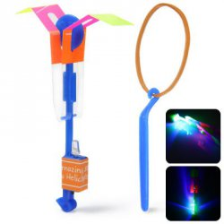 Акция на товар HY 558A Arrow Helicopter Faery Flying Toy with LED for Children Outdoor Entertainment