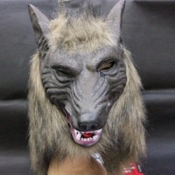 Купить дешево Creepy Halloween Wolf Latex Mask Cosplay Prop For Fancy Ball Party Show со скидкой