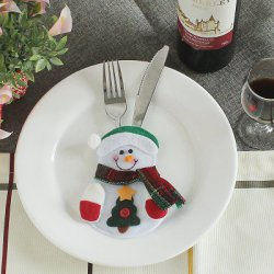 Акция на товар Christmas Snowman Style Decoration Knife Fork Bag