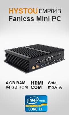 HYSTOU FMP04B Fanless Mini PC