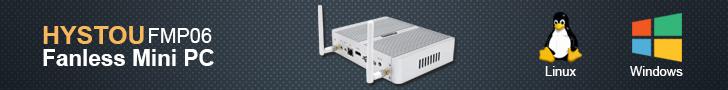HYSTOU FMP06 Fanless Mini PC Celeron N3150 Quad Core