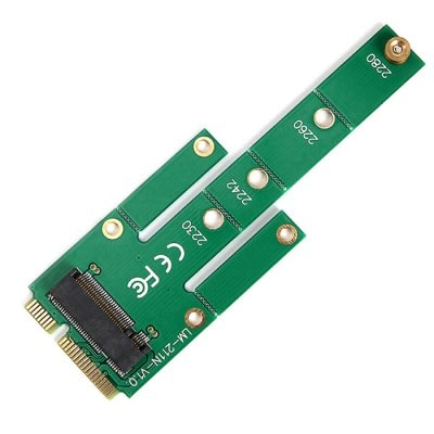mSATA to M.2 NGFF SSD Converter Adapter Card