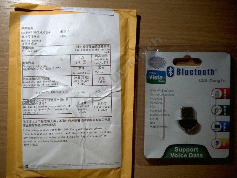 Ну совсем недорогой Bluetooth адаптер.