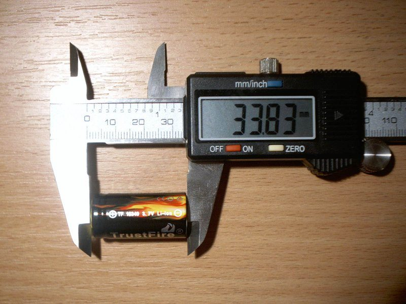 TrustFire TF 16340 880 mAh, или когда результат не тот, которого ждешь.