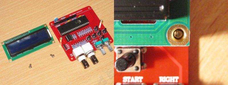 Конструктор для сборки простого DDS генератора сигналов