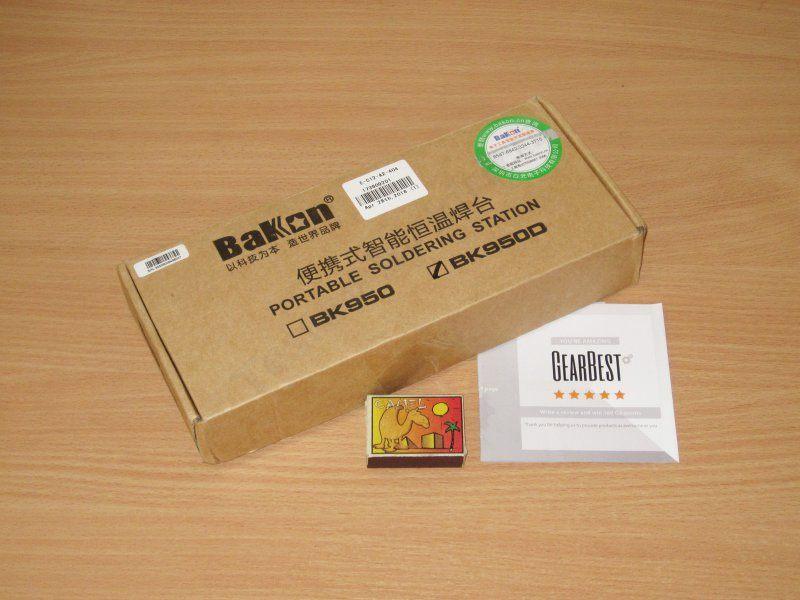 Bakon BK950D, небольшая паяльная станция с паяльником T12