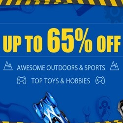 The Outdoors and Toys Flash Sale Save up to 65% off