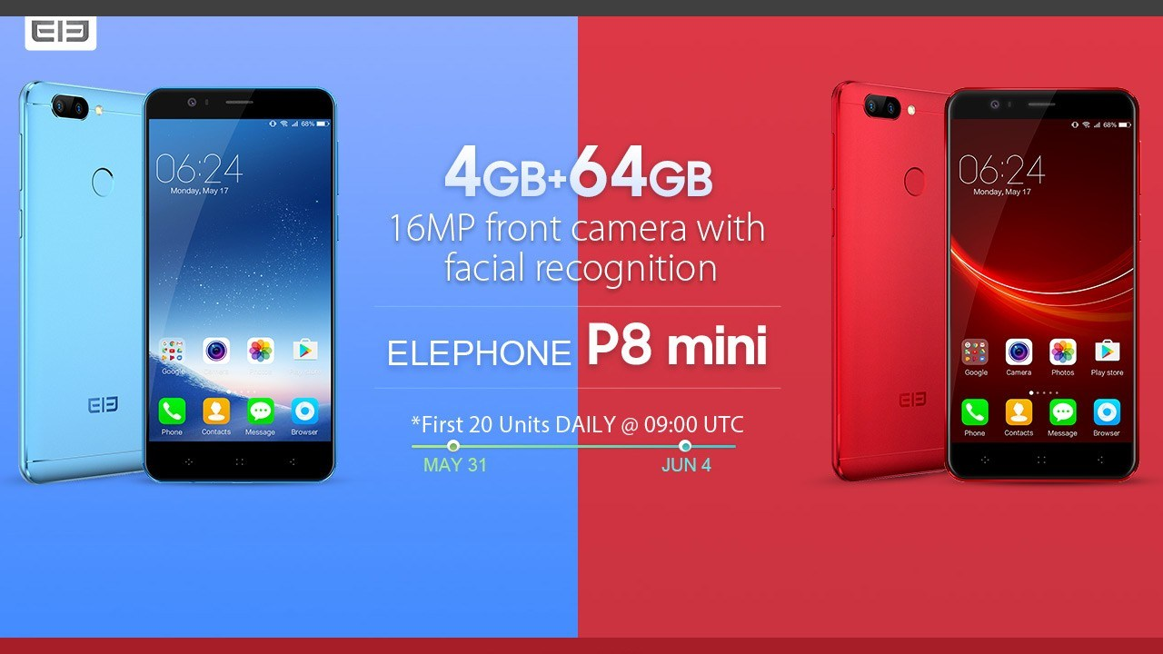 The Best Budget Android Smartphone 2017 Elephone P8 Mini Flash Sale from $99.99