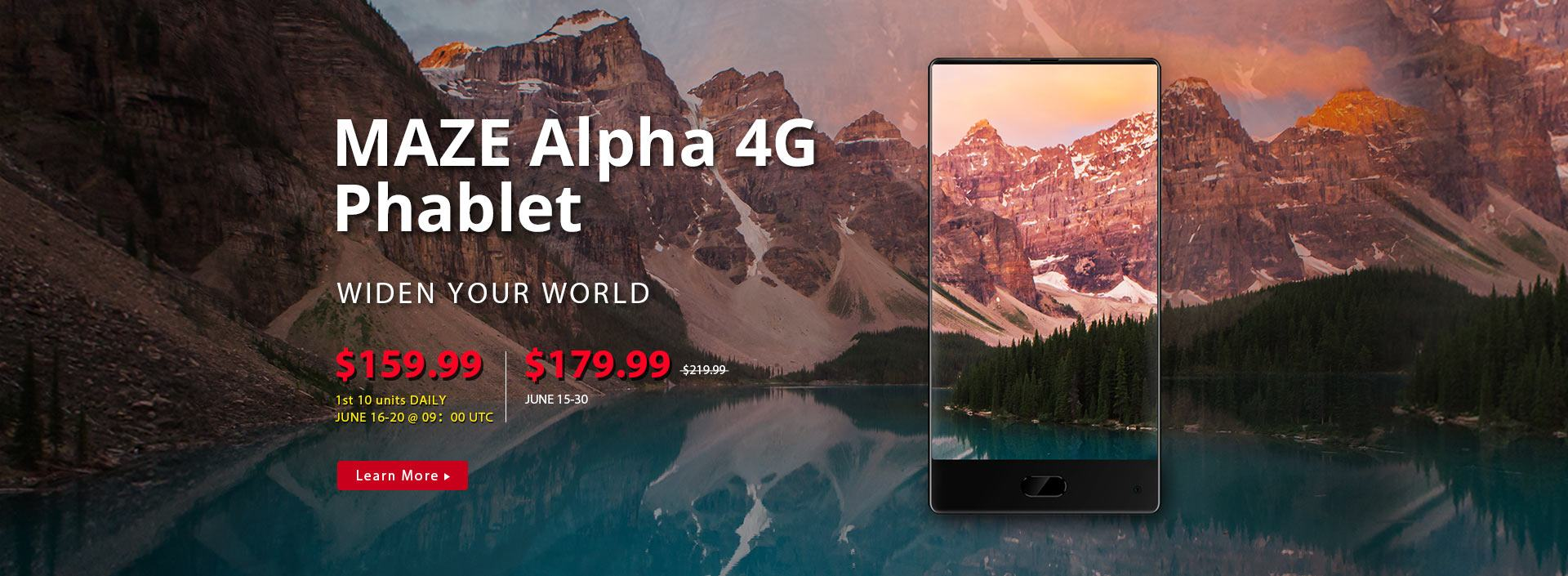 The 2017 Top Android Telephone MAZE Alpha 4G Phablet Flash Sale from $159.99