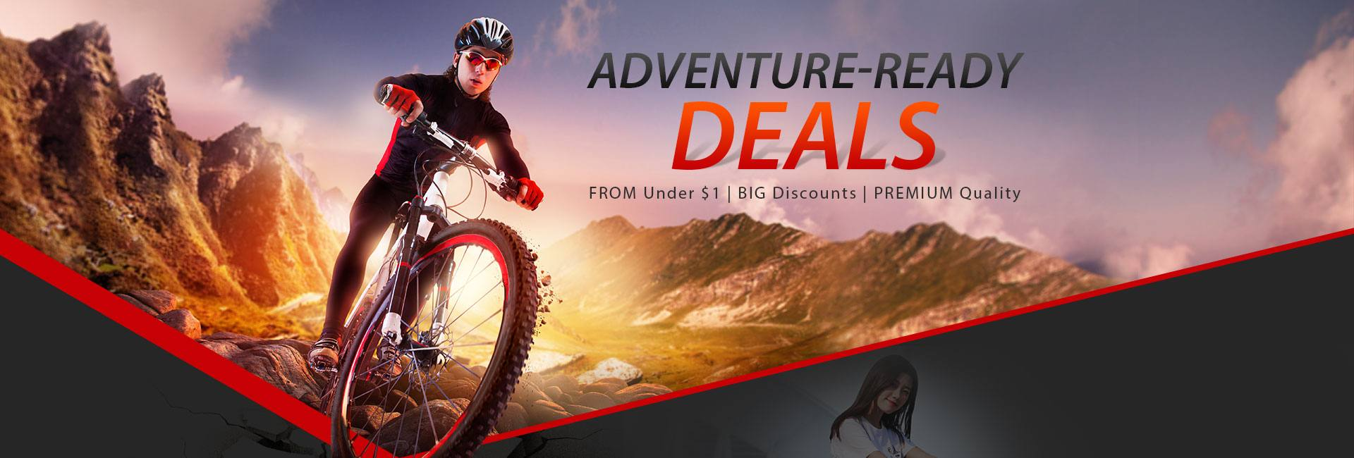The Outdoor Sports Advanture Ready Deals with Coupon from Under $1