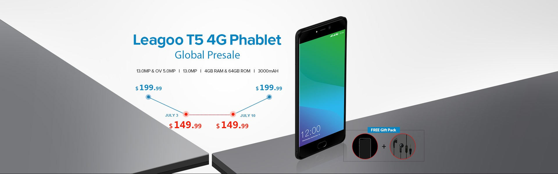 The 2017 Top Android 4G Smartphone Leagoo T5 4G Phablet Flash Sale From $149.99