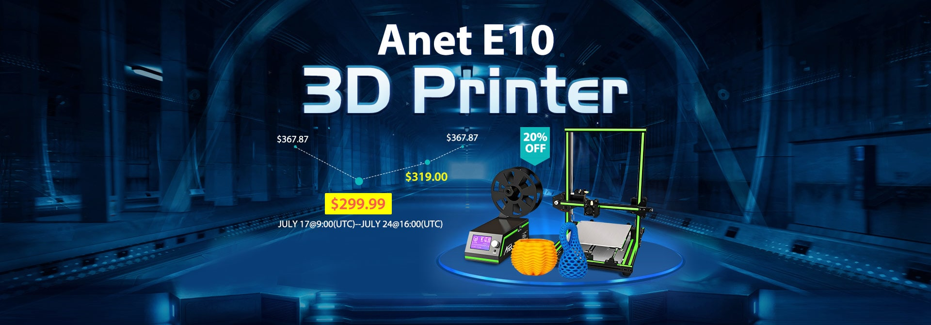 The Anet E10 3D Printer Flash Sale from Just $299.99
