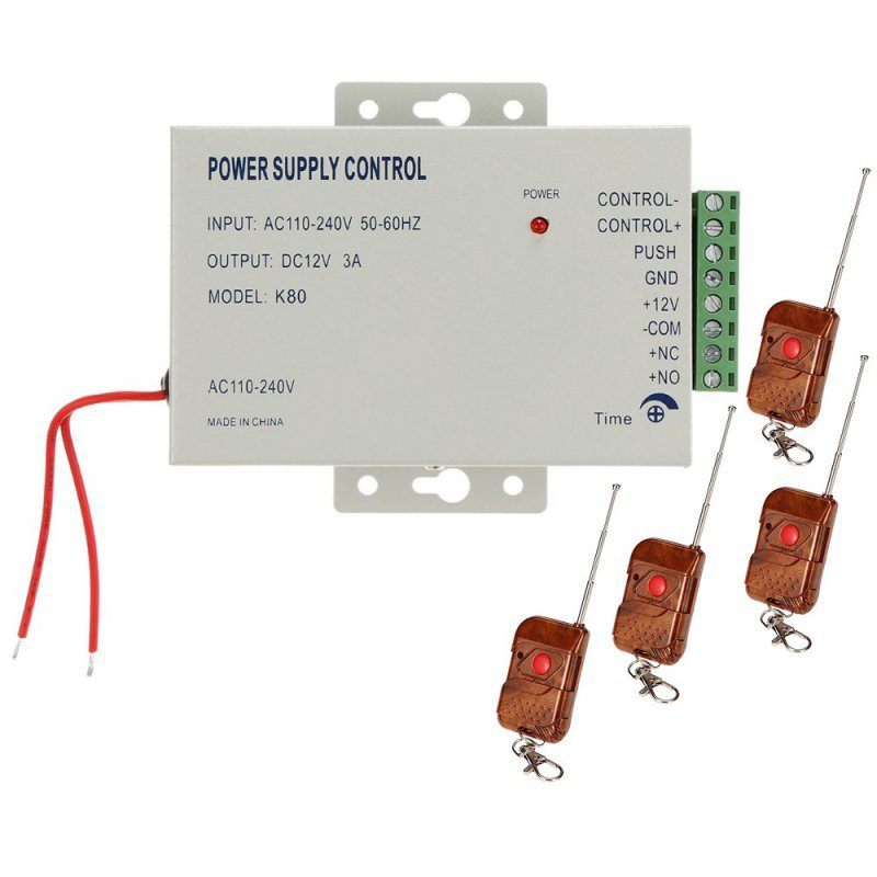 Блок питания 12 Вольт 3 Ампера для систем контроля доступа