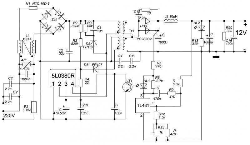 5l0380r схема включения