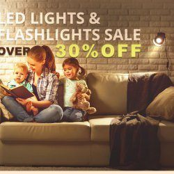 The LED Light and Flashlight Flash Sale Save up to 30% off